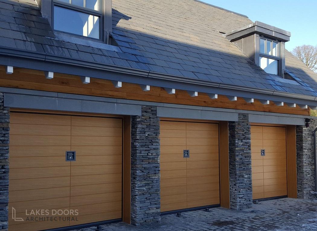 Silvelox Oak Garage Doors